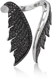 Magnipheasant Open Wing 18 Karat White Gold Diamon Stephen Webster