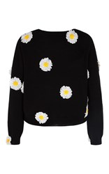 Paper London Daisy Embellished Jumper Black