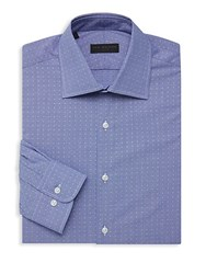 Ike By Ike Behar Dotted Long Sleeve Dress Shirt Blue