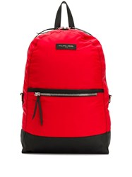 Philippe Model Logo Patch Backpack Red