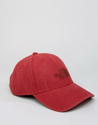 The North Face Classic Logo Baseball Cap Red Red