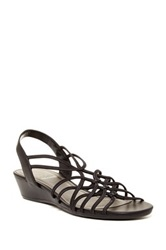 Impo Rally Wedge Sandal Black