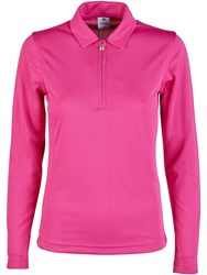 Daily Sports Macy Long Sleeve Polo Red