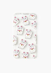 Missguided White Googly Eye Lucky Cat Iphone 6 Case Multi