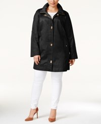 Jones New York Plus Size Turnlock Coat Black
