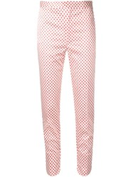 Toga Polka Dot Cropped Skinny Trousers White