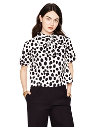 Kate Spade Madison Ave. Collection Wild Dots Keely Top New Shell Pink