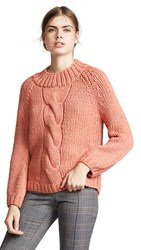 Brochu Walker Gia Hand Knit Pullover Persimmon