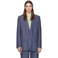 Tibi Ssense Exclusive Blue Long Blazer