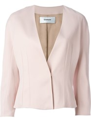 Chalayan Short Tailored Jacket Pink And Purple