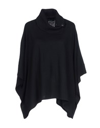 Twin Set Jeans Capes And Ponchos Black