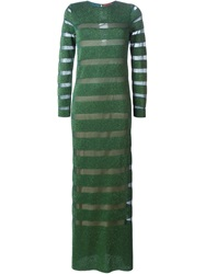 Missoni Stripped Long Fitted Dress Green