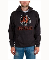 Junk Food Men's Cincinnati Bengals Wing T Formation Hoodie Heather Charcoal