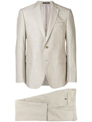 Emporio Armani Two Piece Formal Suit Neutrals