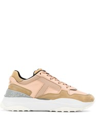 Tod's Chunky Lace Up Sneakers Pink