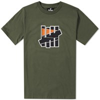 Undefeated 5 Strike Court Tee Green