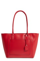 Lodis Medium Margaret Leather Tote With Zip Pouch Red