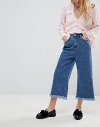 Glamorous Culotte Jeans Mid Blue