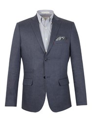 Racing Green Fred Herringbone Blazer Navy
