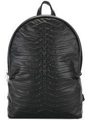 Alexander Mcqueen Rib Cage Backpack Black