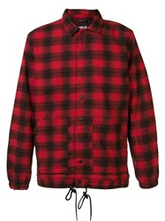 Publish Checked Shirt Jacket Red