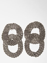 Alberta Ferretti Lvr Exclusive Clip On Earrings Silver