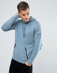 Tom Tailor Hoodie In Washed Blue With Contrast Trims