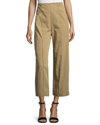 A.L.C. Marley Cropped High Rise Wide Leg Chino Pants Brown