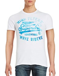 Superdry Wave Riders Logo Tee Optic