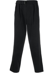 Issey Miyake Belted Tailored Trousers Black