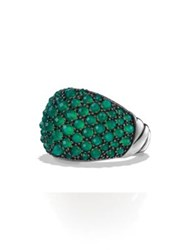 David Yurman Osetra Dome Ring With Green Onyx