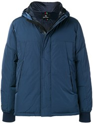 Paul Smith Ps By Padded Hooded Jacket Blue