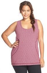 Plus Size Women's Zella Scooped Neck Racerback Tank Burgundy Maven
