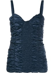 J.W.Anderson Smocked Ruched Bustier Top