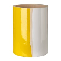 Pols Potten Triple Colour Glazed Vase 20Cm Yellow White Bronze