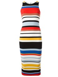 Alice Olivia Striped Fitted Dress
