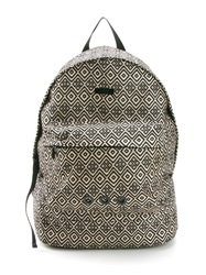 Osklen Jacquard Backpack Nude And Neutrals