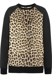Just Cavalli Leopard Print Neoprene Sweatshirt Animal Print