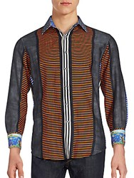 Robert Graham Silk Blend Long Sleeve Shirt Multicolor