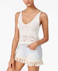 American Rag Cotton Cropped Knit Tank Top Only At Macy's Egret