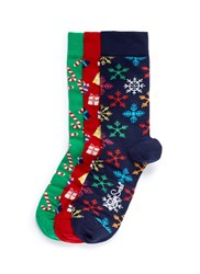 Happy Socks Christmas 3 Pair Pack Multi Colour