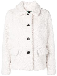 Paul Smith Ps By Faux Fur Jacket Neutrals