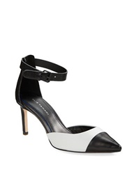 Elie Tahari Westside Colorblocked Leather Pumps Black White
