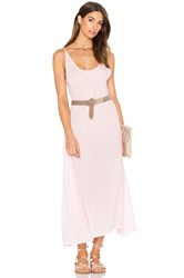 Bobi Gauze Sleeveless Scoop Back Maxi Dress Pink