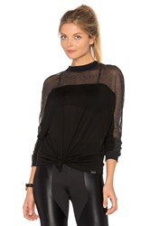 Koral Reply Long Sleeve Top Black
