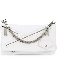Dsquared2 Babe Wire Clutch Women Calf Leather One Size White