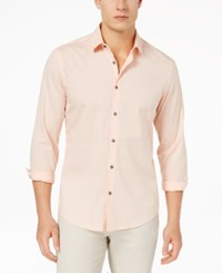 Alfani Men's Modern Striped Shirt Created For Macy's Peachy Keen