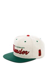 Mitchell And Ness Ok City Brushed Heather Holiday Snapback Gray