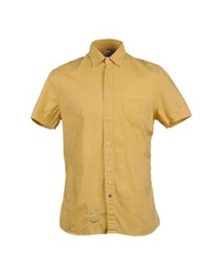 Authentic Original Vintage Style Short Sleeve Shirts Yellow