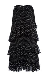 Giamba Layered Polka Dot Dress Black